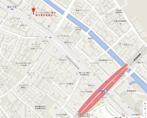 はんこ屋さん21 中目黒店 地図